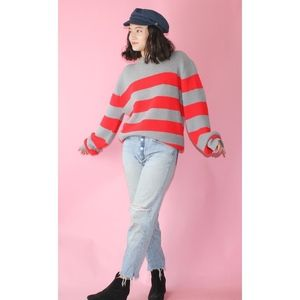 VTG 1990s Grey Striped Sweater